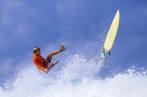 #76791568  Surfer on Amazing Blue Wave © trubavink - Fotolia