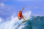 #76787756  Surfer on Amazing Blue Wave © trubavink - Fotolia
